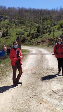 Senderistas de la ruta de Pico Cervero