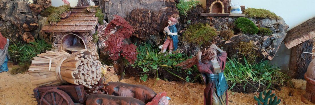 Exposición Belén navideño en el museo.